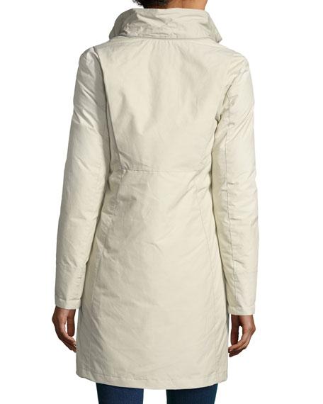 Bow Bridge Hooded Tech-Fabric Jacket