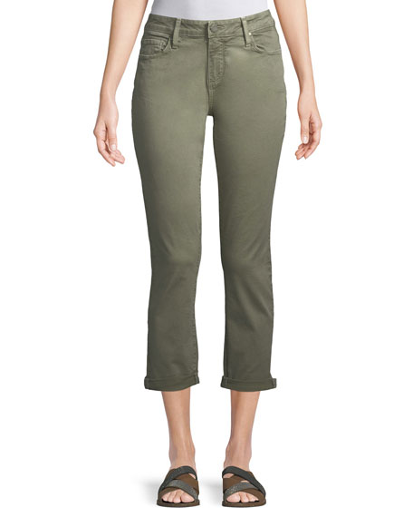 PAIGE Brigette High-Rise Tailored Straight-Leg Jeans