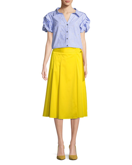 Side-Slit Midi Skirt