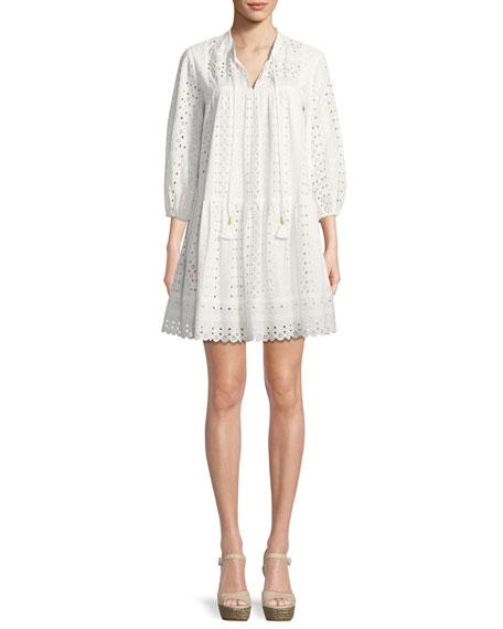 Shoshanna Amelia Mini Dress w/ Eyelets