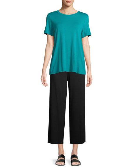 Short-Sleeve Lightweight Jersey Top, Plus Size