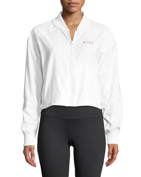 Sportswear Mesh Bomber Jacket