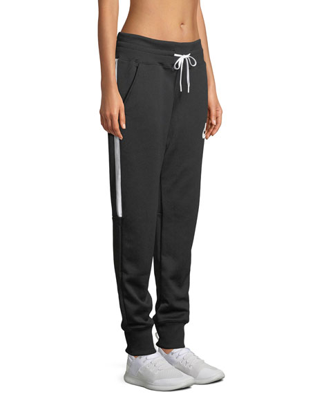 Side-Stripe Drawstring Jogger Sweatpants