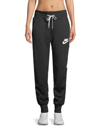 Side-Stripe Drawstring Jogger Sweatpants