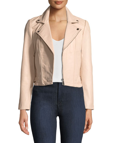 Etty Leather Biker Jacket