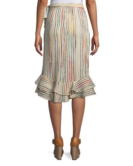 Tularosa Veronica Flounce Wrap Skirt