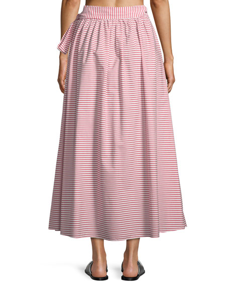 Katrine Striped Coverup Maxi Skirt