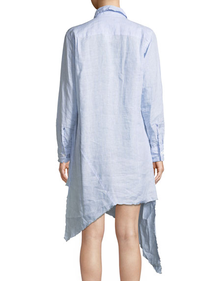 Drake Long-Sleeve Linen Shirtdress