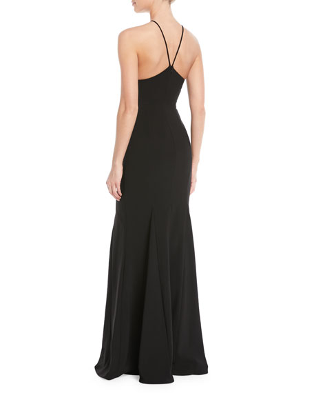 Likely Harper Halter Gown w/ Cutouts