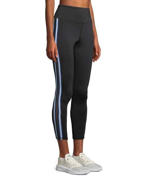 Michi Le Mans High-Waist Striped Performance Leggings