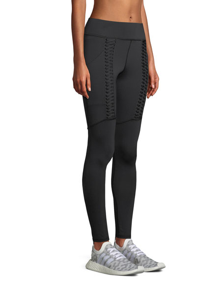 MICHI Hypernova Lace-Up Leggings in Black