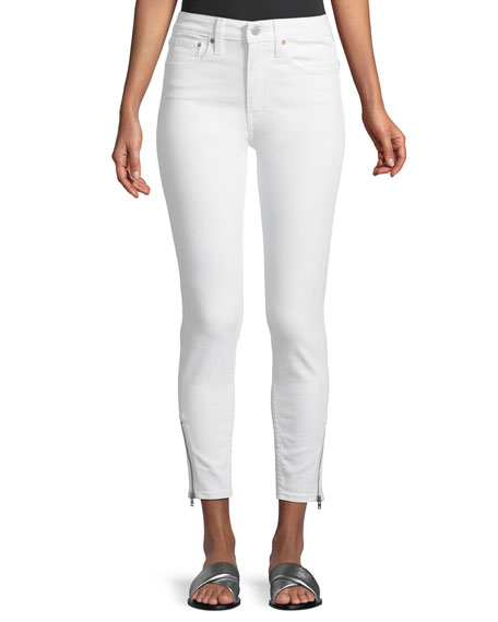 Levi's Premium 721 Altered High-Rise Side-Zip Skinny-Leg Jeans