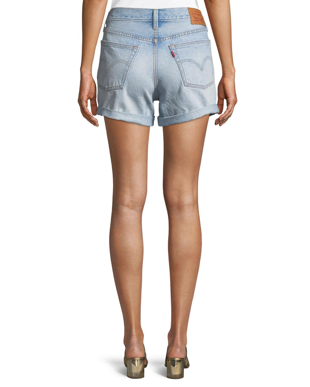 daa1f49bf 501 North Beach Blues Mid-Rise Denim Shorts