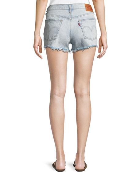 Levi's Premium Bleached Authentic Denim Cutoff Shorts