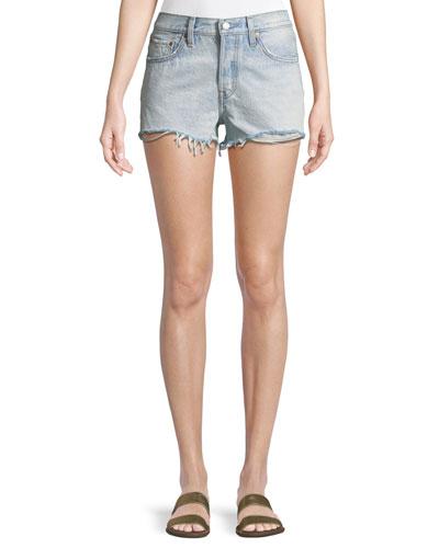 Bleached Authentic Denim Cutoff Shorts