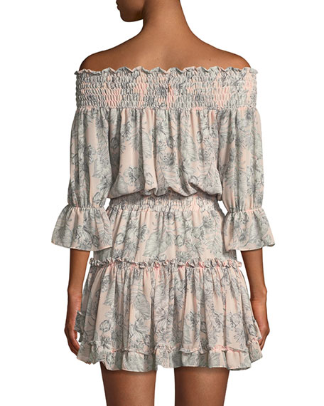 Geroux Smocked Off-the-Shoulder Mini Dress