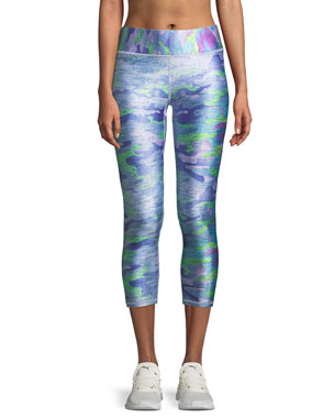 109f68227b2a7 Terez Tall Band Printed Capri Leggings