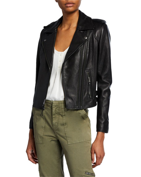 Leolani Lamb Leather Moto Jacket