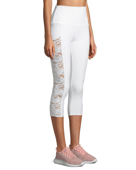 Stunner Capri Leggings with Lace Panels