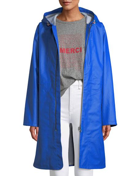 Rag & Bone Kenna Classic Zip-Front Raincoat