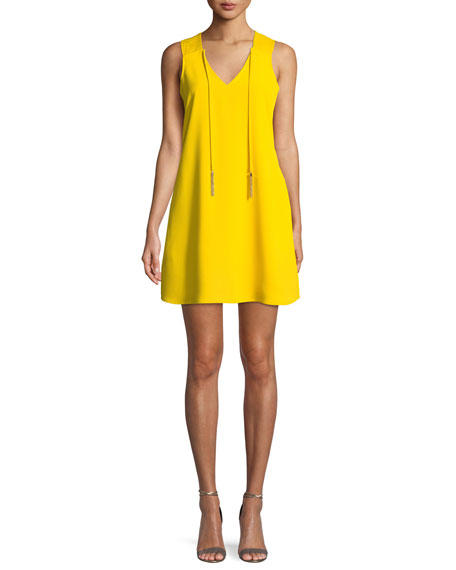 Arleen Mini Dress W/ Self Tie Neck by Trina Turk