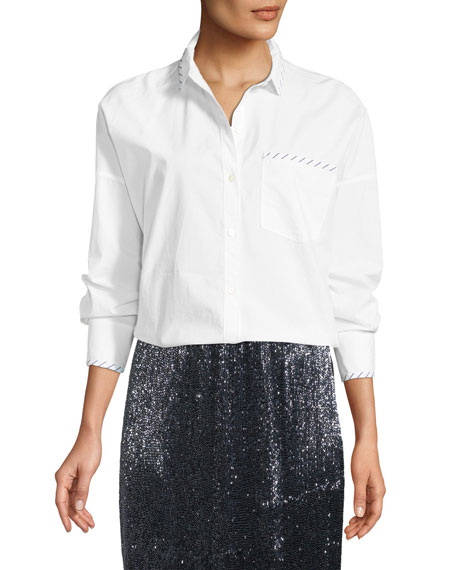 Joie Septima Long-Sleeve Button-Down Top