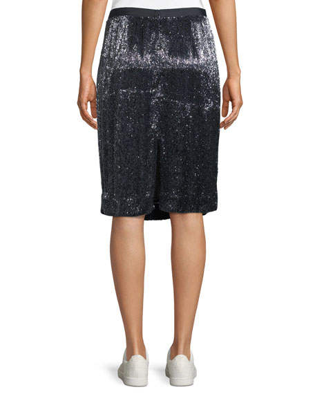 Edryce Sequin Knee-Length Skirt