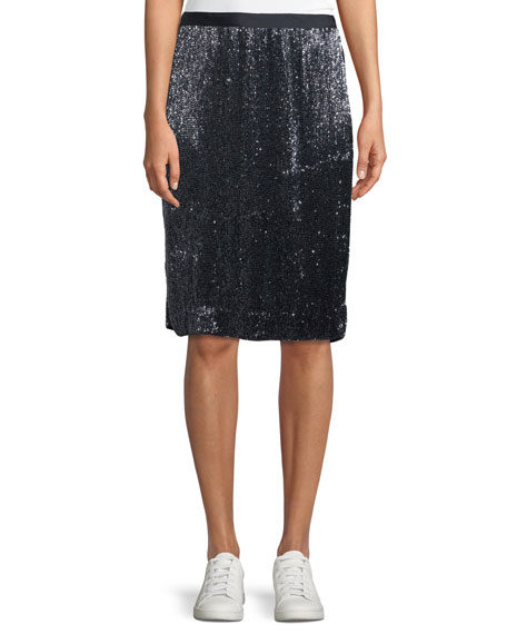 Joie Edryce Sequin Knee-Length Skirt