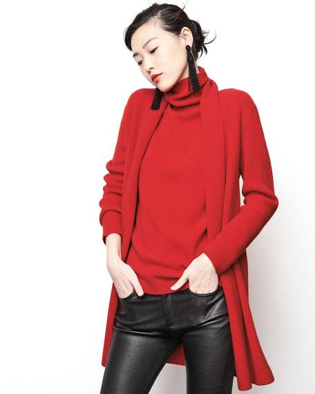 Cashmere Full-Needle Duster Cardigan