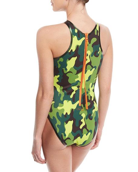 Cardorider Camo-Print One-Piece Swimsuit