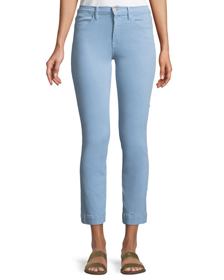 FRAME Le High Straight-Leg Ankle Jeans with Blind