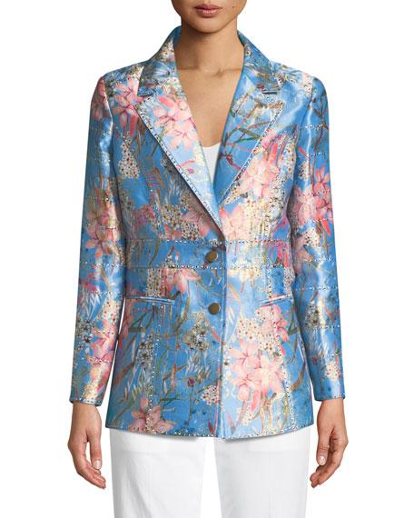 Cherry Blossom Jacquard Jacket, Petite