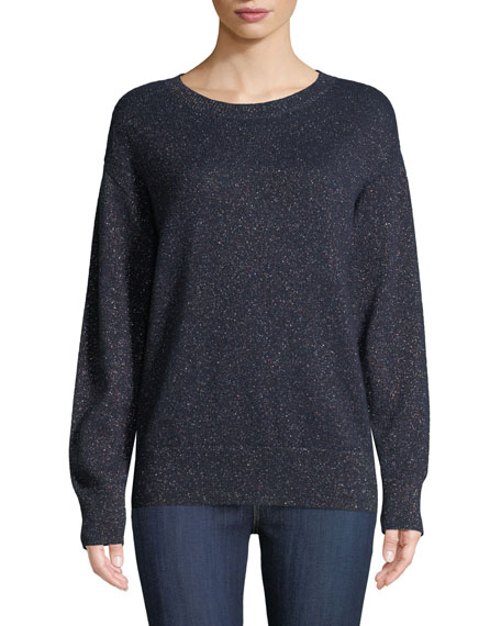 Neiman Marcus Cashmere Collection Cashmere-Blend Rainbow Metallic