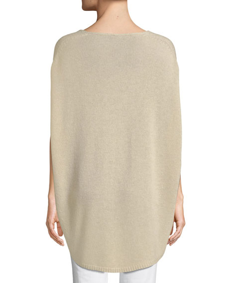 V-Neck Cashmere Cape Sweater