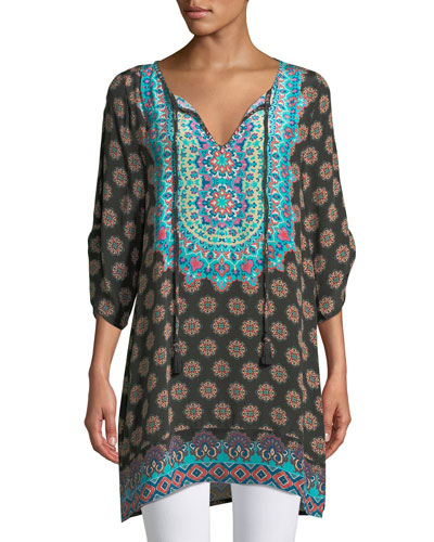 Sanaya Medallion-Print Tunic, Plus Size