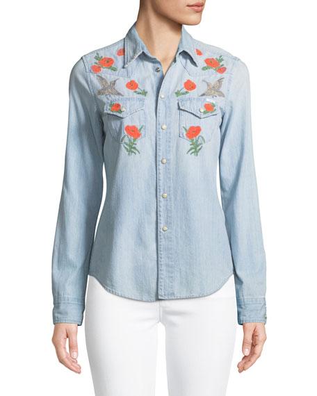 All My Exes Button-Down Denim Shirt