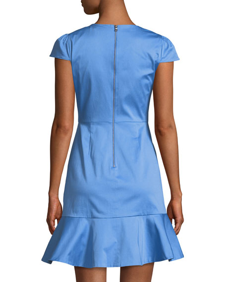 Image 2 of 3: Kirby Short-Sleeve Ruffle Mini Dress