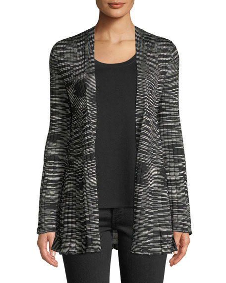 Space-Dyed Ribbed Cardigan