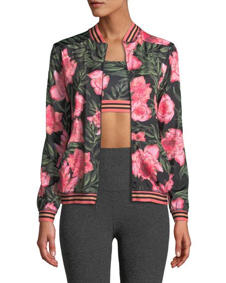 True Stripes Floral Bomber Jacket