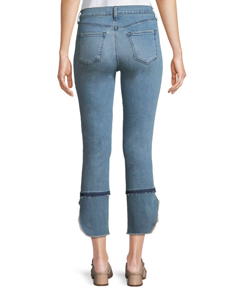 Ruby High-Rise Cropped Cigarette Jeans, Patriot