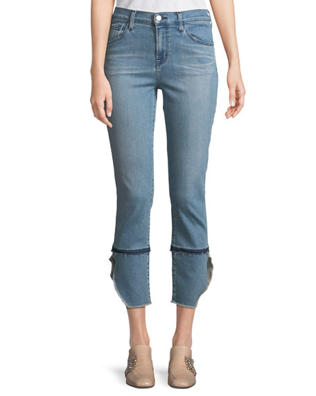J Brand Ruby High-Rise Cropped Cigarette Jeans, Patriot