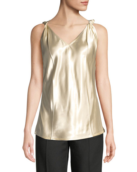 Helmut Lang Twisted Sleeveless V-Neck Top