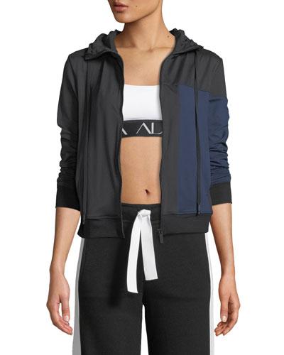 Mesa Zip-Front Colorblock Active Jacket