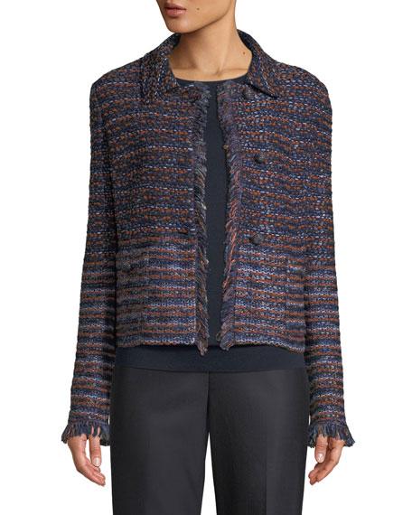 St. John Collection Ombre Ribbon Knit Jacket