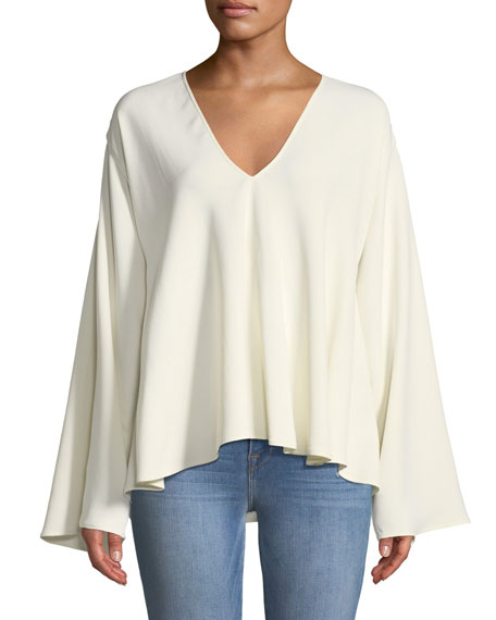 Ellis Long-Sleeve V-Neck Top