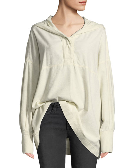Cortlandt Hooded Long-Sleeve Top