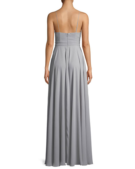 Fame and Partners The Miles Cutout Sleeveless Long Dress