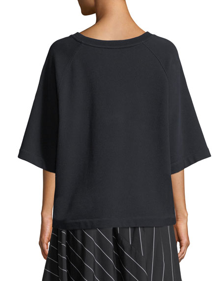 Boxy Short-Sleeve Pullover Top
