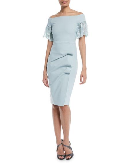 Chiara Boni La Petite Robe Farideh Lace-Sleeve Sheath