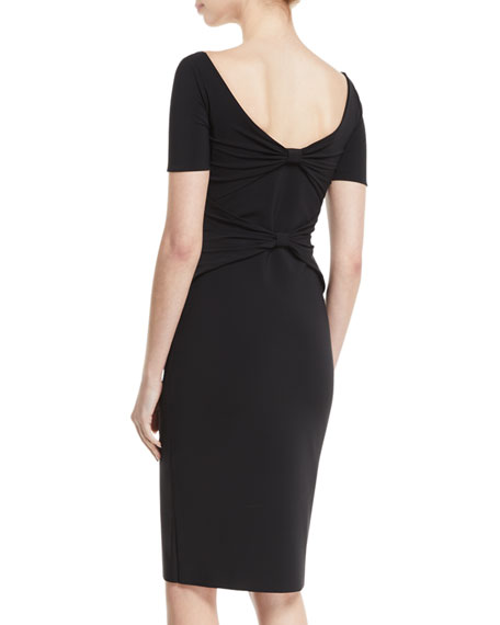 Randi Scoop-Neck Back-Bow Dress